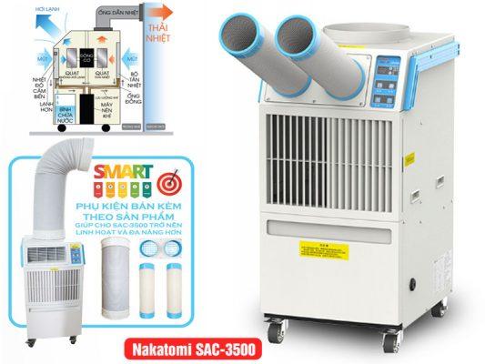Máy Làm Mát Điểm Nakatomi SAC-3500