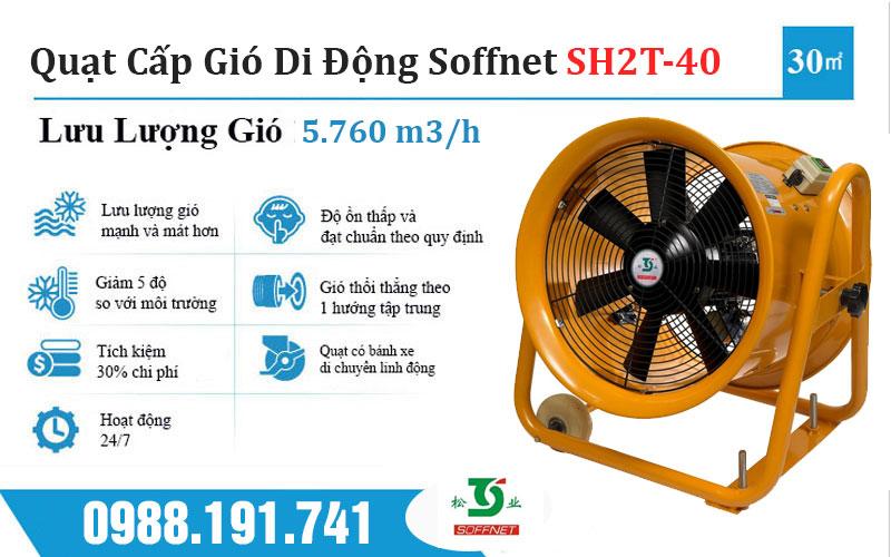 Quạt Cấp Gió Di Động Soffnet SH2T-40