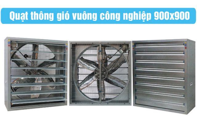 Quạt Thông Gió Vuông Công Nghiệp 900×900