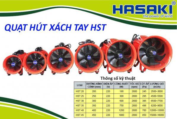 Quạt Hút Gió Xách Tay Hasaki HST-20