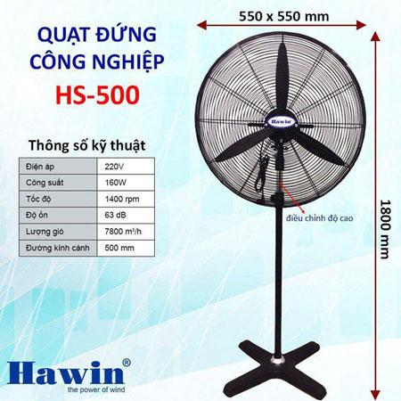 Quạt Cây Công Nghiệp Hawin HS500