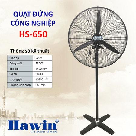 Quạt Cây Công Nghiệp Hawin HS650