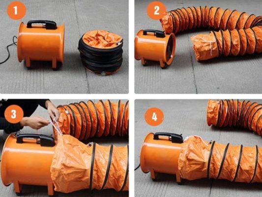 Cách lắp đặt quạt hút xách tay đúng cách