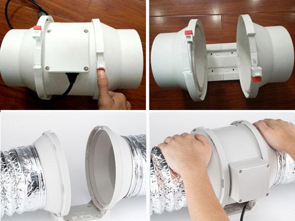 Quạt hút mùi nối ống SHP-150