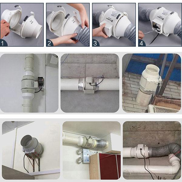 Quạt hút mùi nối ống SHP-250RC